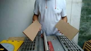 Testando o disco da frezite com capacidade de corte de 6,5mm parte 2