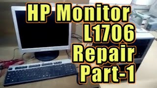 How to fix and solve HP L1706 LCD monitor / any computer monitor PART 1 by ictmguru