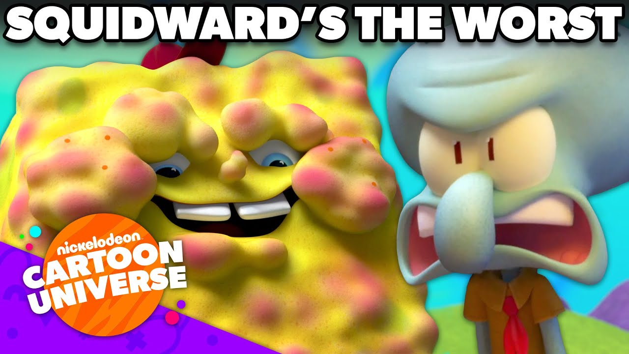 10 Minutes of Squidward Being The WORST Camp Counselor! | Kamp Koral | Nickelodeon Cartoon Universe