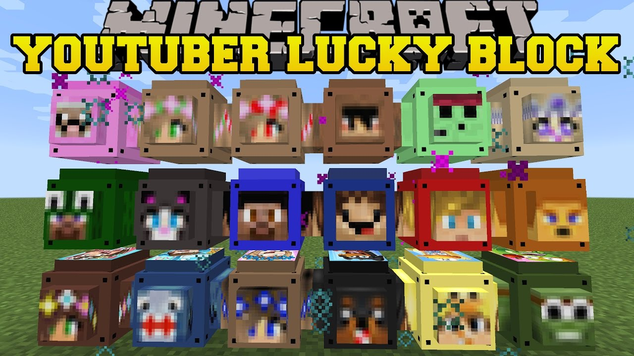 Minecraft: MORE MINECRAFTER LUCKY BLOCKS (LITTLE KELLY, LACHLAN, LITTLE  LIZZARD & MORE) Mod Showcase