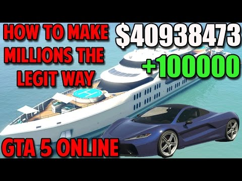GTA 5 Online - How to Make MONEY FAST The LEGIT WAY!(GTA 5 MONEY)(Xbox One, PS4, Xbox 360, PS3, PC)