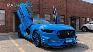 Butterfly doors Ford Mustang Custom Car Floor Mats/Liners
