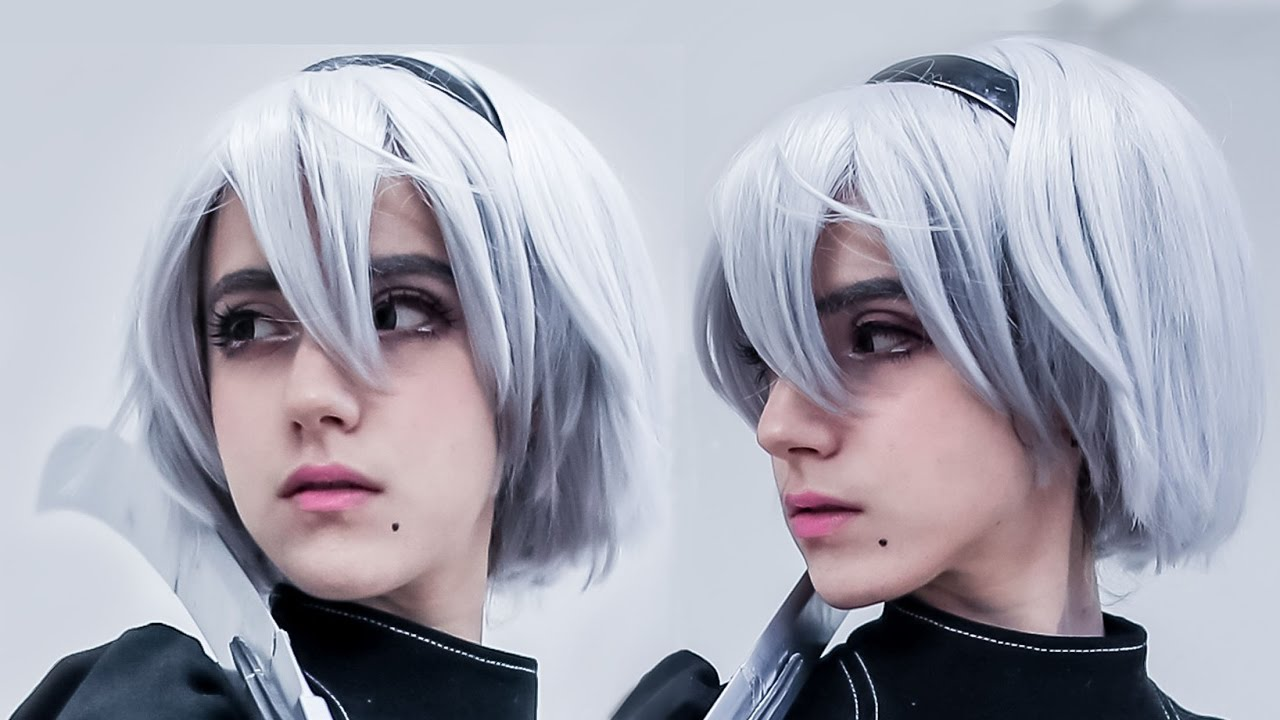 Premise Indicator Words: 2B Of NieR Automata Cosplay Makeup Tutorial