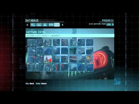 """Batman: Arkham Origins"" demonstration of All Gotham Intel"
