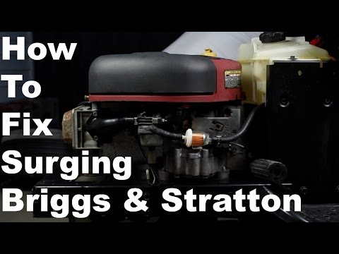 How To Fix Briggs & Stratton Surging Engine | Nikki Carburetor Cleaning