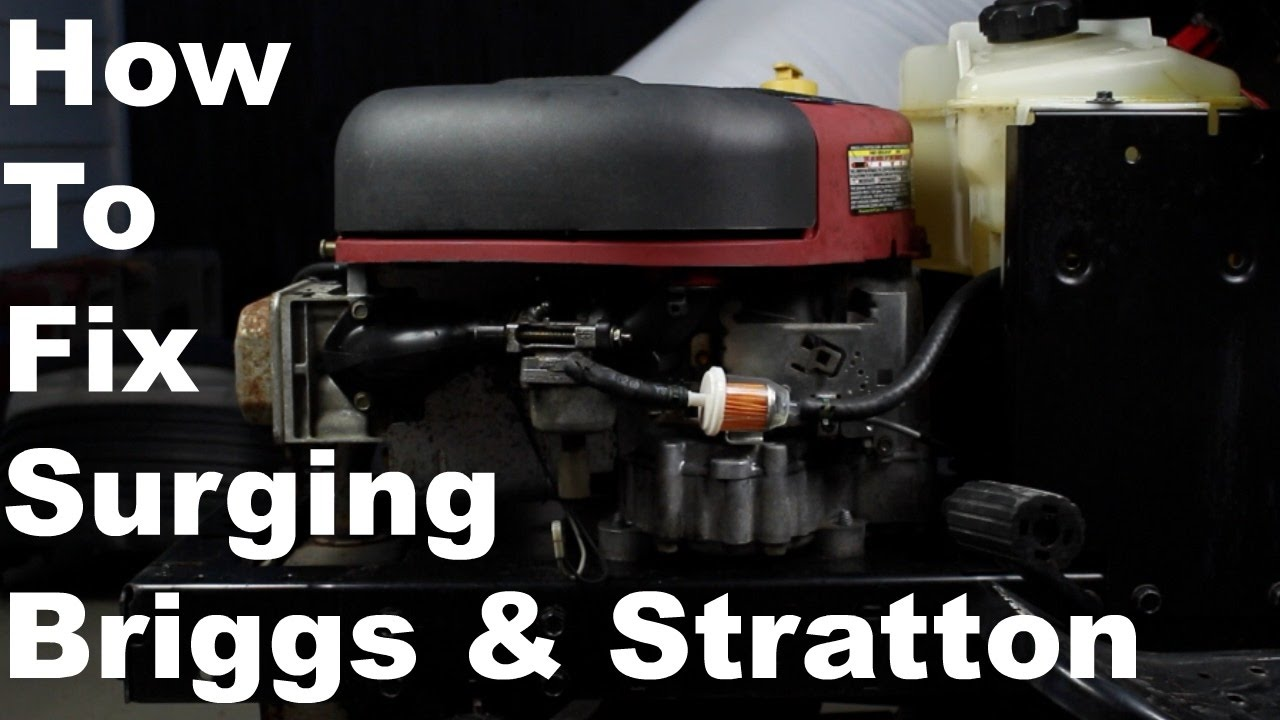 hight resolution of how to fix briggs stratton surging engine nikki carburetor cleaning