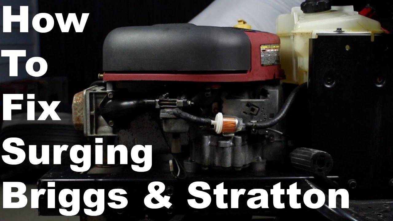 medium resolution of how to fix briggs stratton surging engine nikki carburetor cleaning
