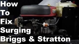 How To Fix Briggs & Stratton Surging Engine | Nikki Carburetor Cleaning
