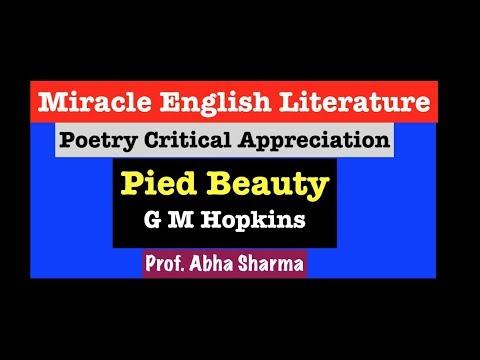 Видео Pied beauty analysis essay