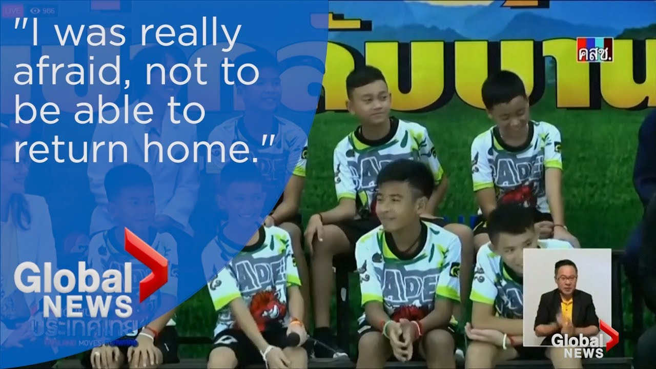 Thai cave boys speak out in first public appearance