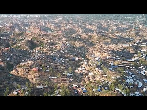 Rohingya crisis: drone footage shows scale of refugee camp in Bangladesh