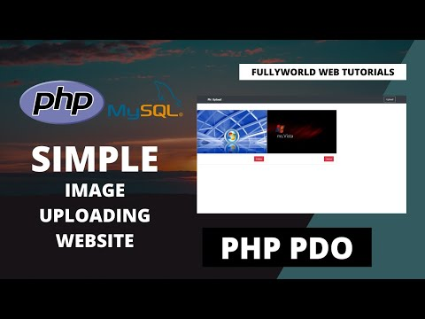 Simple Image Uploading Website Using PDO PHP | PHP Tutorials