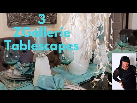 ZGallerie Inspired Tablescapes collab with MyStyleMyColours