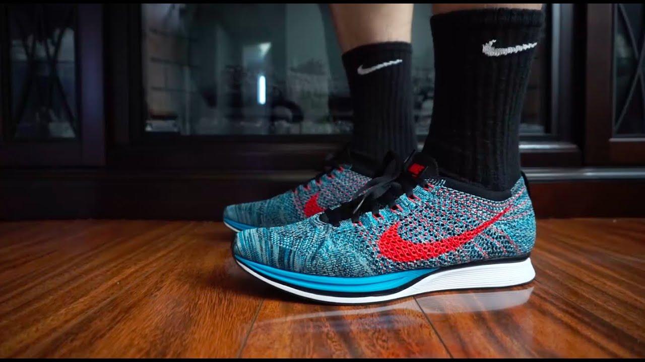 super popular feaea 837a8 On feet  Nike Flyknit Racer (Neo Turquoise)