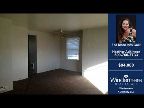 Homes For Sale Moses Lake WA $84000 780-SqFt 2-Bdrms 1-Baths On 0.14 Acre