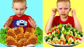 Eat Vegetables Song Martin and Monica Pretend Play Nursery Rhymes & Kids Songs
