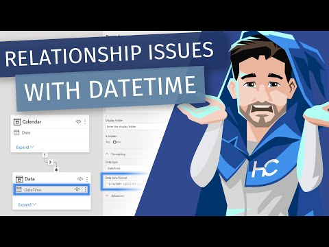 Relationship Issues With DateTime Data Types in Power BI