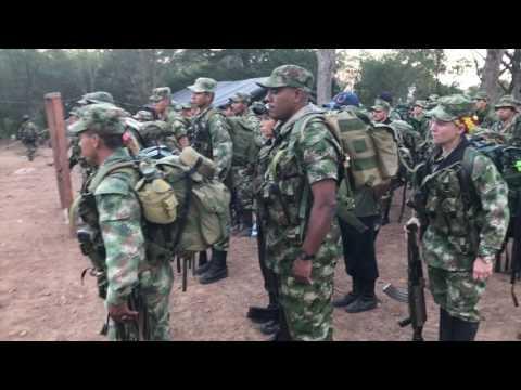 La marcha de Iván Márquez con las Farc en El Conejo, La Guajira