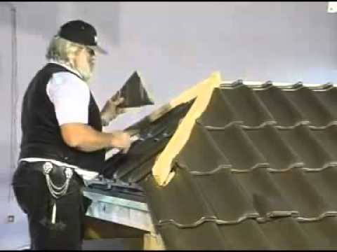 Монтаж вальмы (ребра) крыши