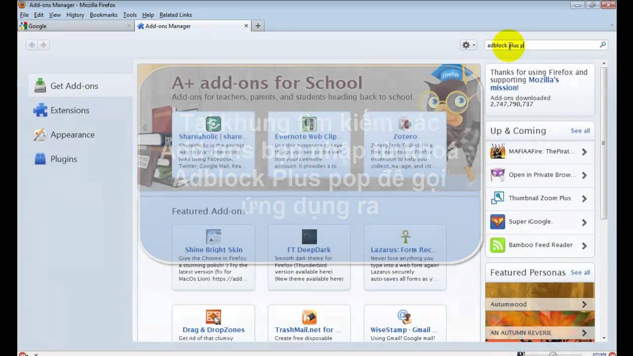 Chặn quảng cáo pop-up trên web bằng Firefox