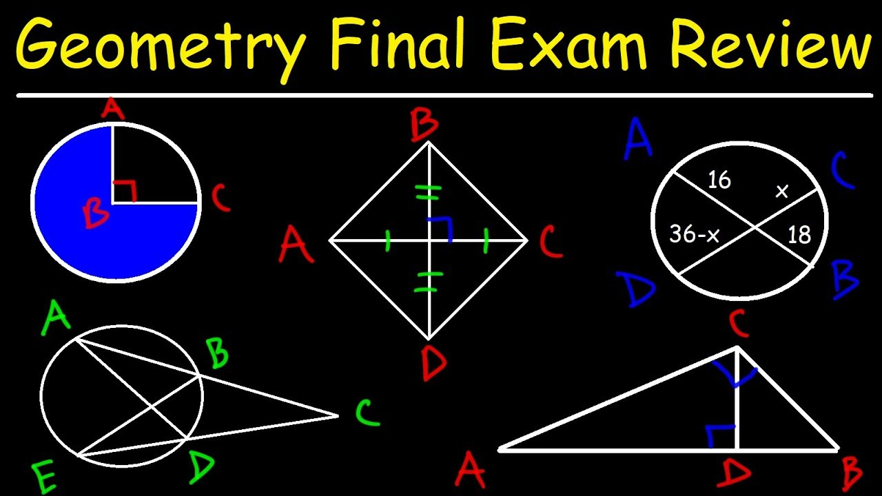 Geometry Final Exam Review - Study Guide
