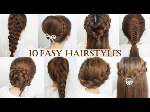 10 ทรงผมถักเปียทำง่าย [10Easy Hairstyles] l Thai Narak