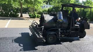Applying AR-16 Asphalt Rejuvenator