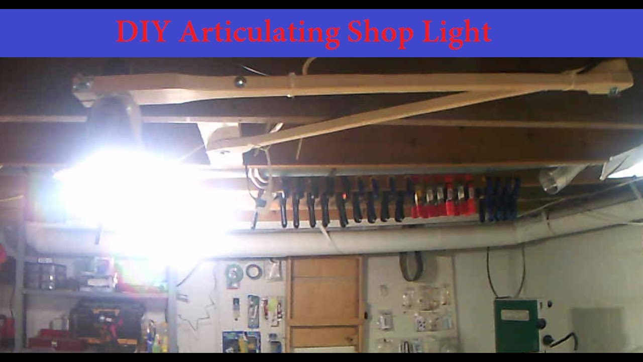 medium resolution of diy articulating shop light