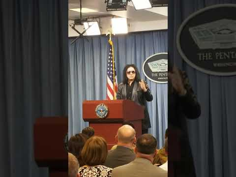 None - Gene Simmons gives press briefing at Pentagon