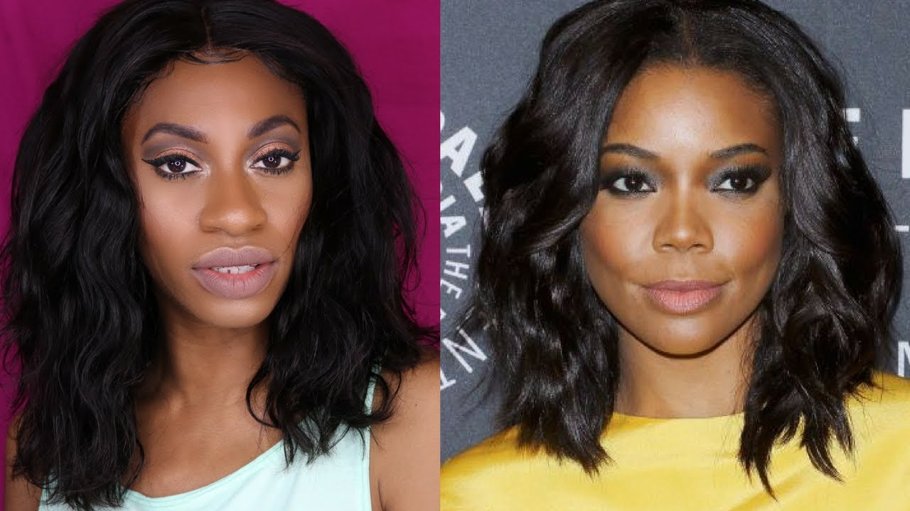 gabrielle union vibes!! wavy bob ft. beauty forever from amazon