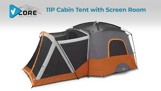 #CORE Camping Guide: Core Equipment 11 Person Straight Wall Tent with Screen Room
