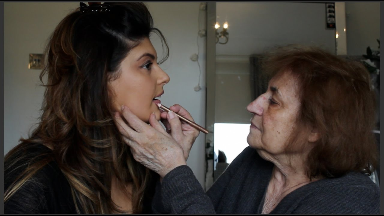 Crazy Greek Grandma Yiayia Does My Make Up Challenge Melina