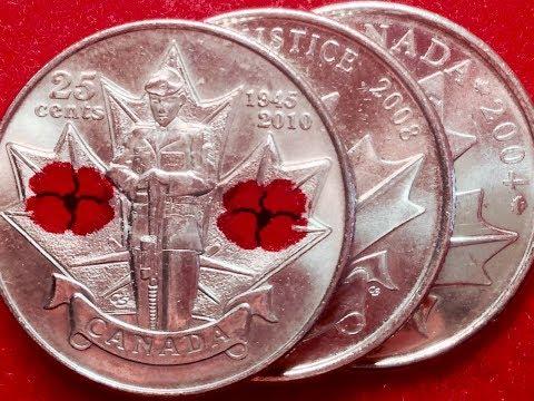 Valuable 2004, 2008, 2010 Canadian Quarters