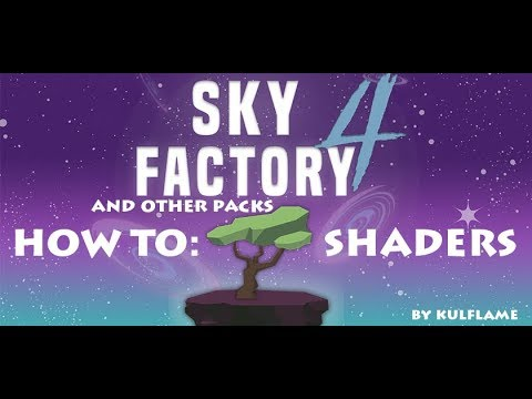 How To | Shaders In Sky Factory 4 | Minecraft - Travel Online