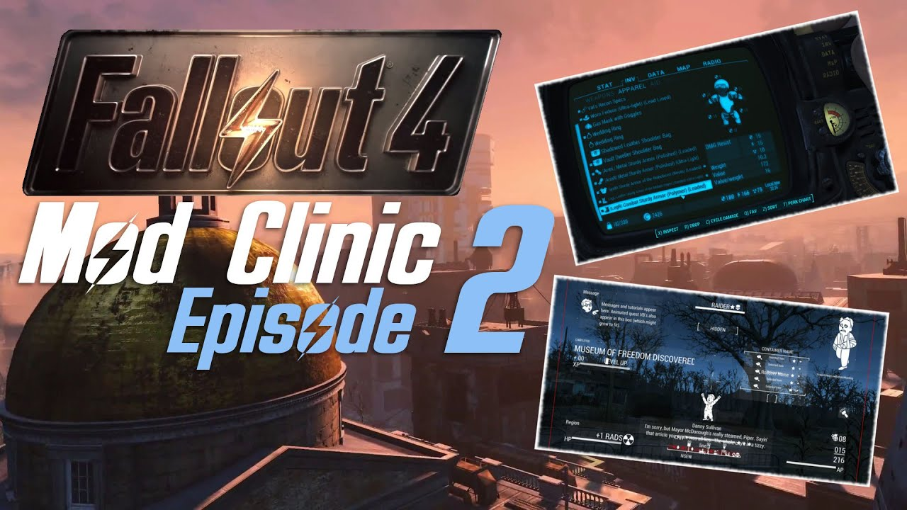 FALLOUT 4 Mod Clinic #2 : DEF_UI - HUD & Inventory Overhaul