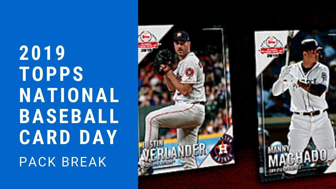 2019 Topps National Baseball Card Day Two Pack Break
