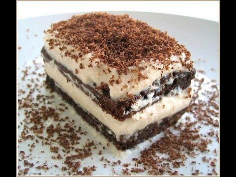 Ricetta Tiramisu Con Yogurt E Panna.Tiramisu Di Yogurt Youtube
