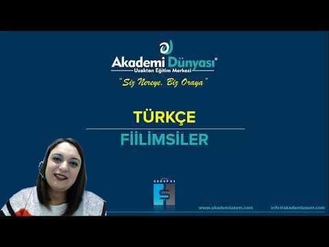 Türkçe | 8.Sınıf 1.Ders - Fiilimsiler