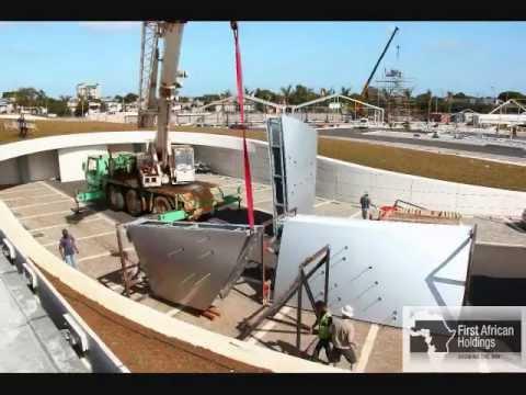 Mauritius Commercial Bank: Pylon Sign Installation