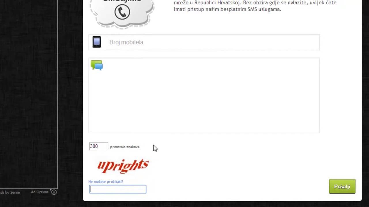 Tutorijal #8 - Kako poslati besplatni SMS preko Interneta
