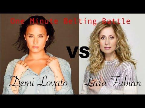 Demi Lovato Vs Lara Fabian- One Minute Vocal Range