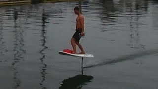 DIY Electric Hydrofoil Part 13 - Learning to Ride