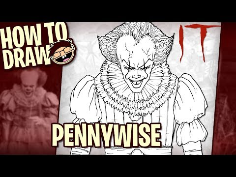 How to Draw PENNYWISE THE CLOWN (IT [2017] Movie) | Narrated Easy Step-by-Step Tutorial