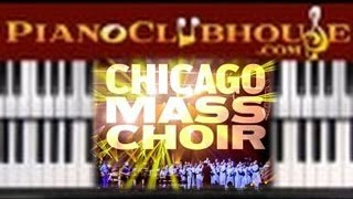 🎹  GOD IS MY EVERYTHING - Chicago Mass Choir (easy gospel piano lesson tutorial)