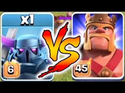 LVL6 PEKKA vs. MAX KING!!   Clash Of Clans   NEW LEVEL FIGHT!!