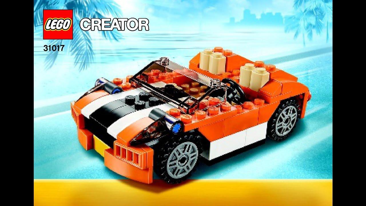 Lego Creator 31017 Sunset Speeder 3 In 1 Instructions Diy Book 1