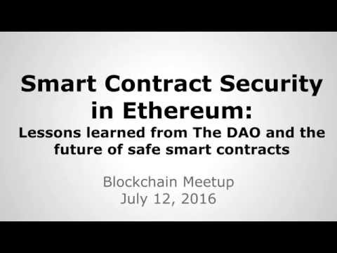 Smart Contract Security in Ethereum