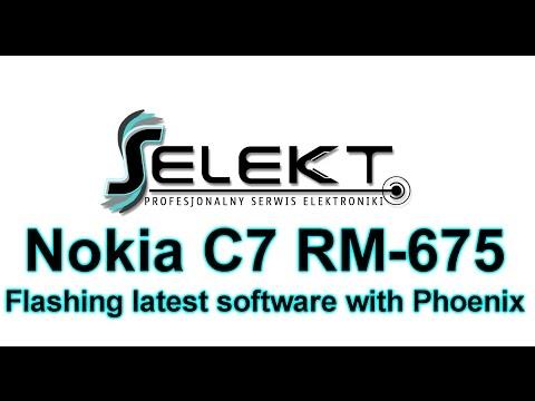 Nokia C7 (RM- 675) Flashing latest software with Phoenix