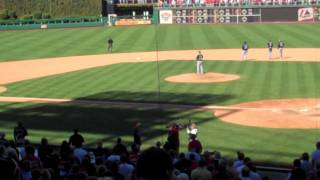 """Me singing """"GOD BLESS AMERICA"""" at a Phillies game!"""