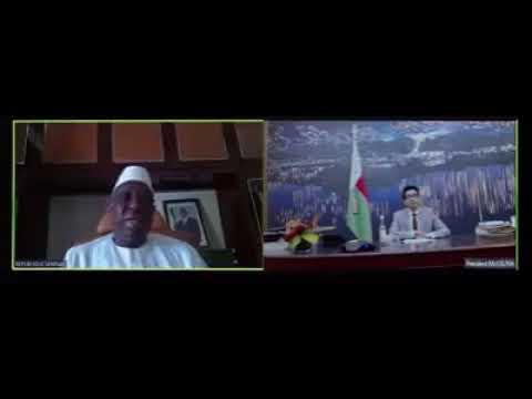 Covid-19 vidéo conférence Macky Sall et Andry Rajoelina